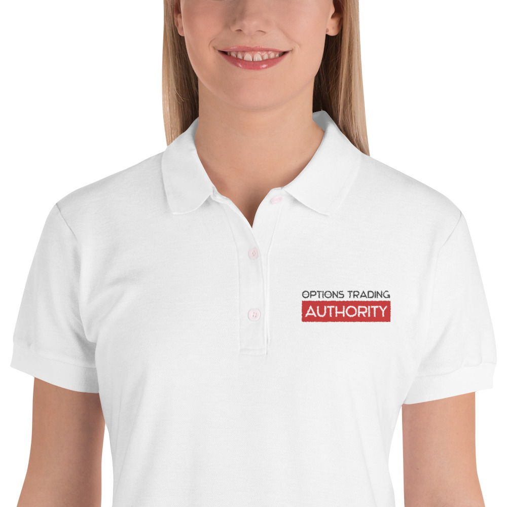 Options Trading AUTHORITY Brand Embroidered Women's Polo Shirt