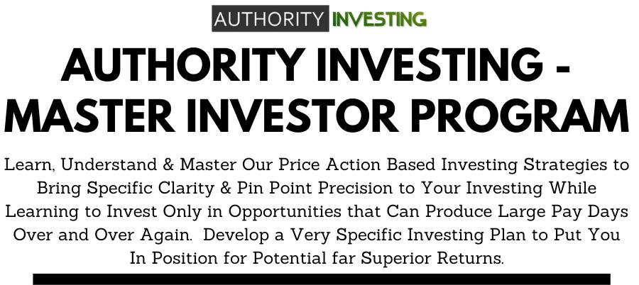 AUTHORITY Investing - MASTER Investor Program