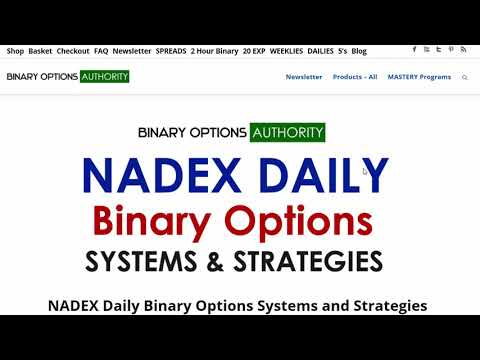NADEX Daily Binary Options Systems and Strategies Page